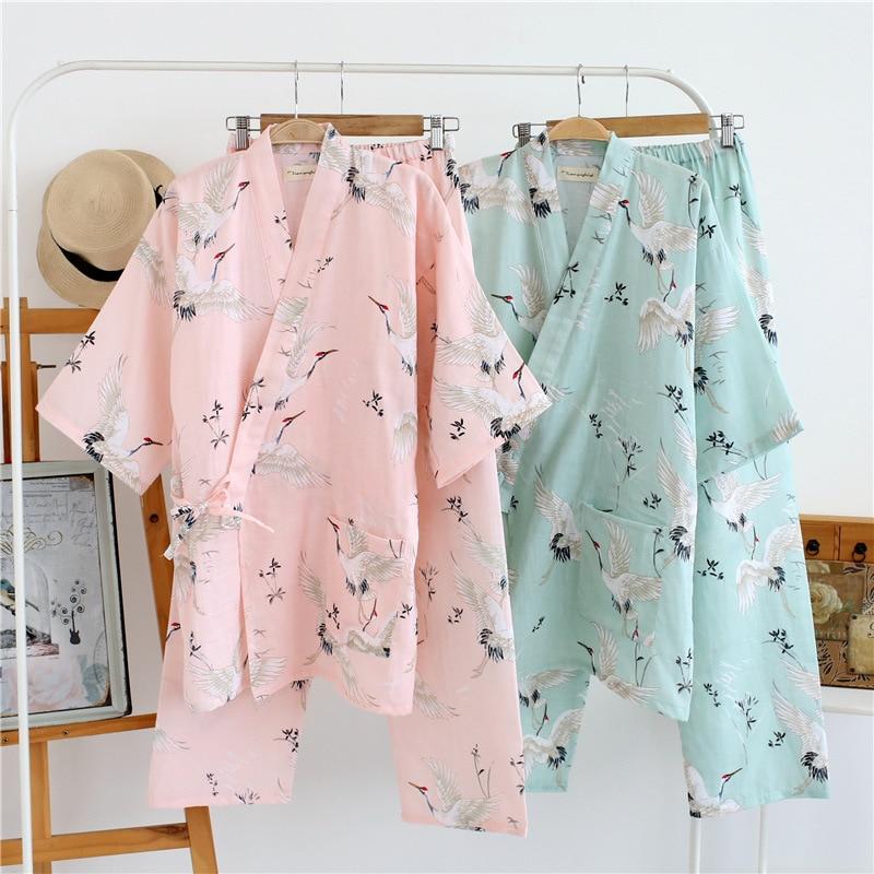 Жапондық Kimono Robe & Pants әйелдер Pijamas - Ұлттық киім - фото 3