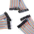 120 unids 30 cm hembra Conector de línea de cable de Puente masculino DuPont Breadboard para arduino