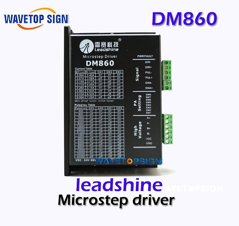 Leadshine DM860 2-Phase 32-Bit DSP Digital Stepper Drive of 20 - 80 VDC Input Voltage and 2.4 - 7.2A Output Current step motor drive from famous brand leadshine model dm422c 2 phase digital stepper drive max 40 vdc and 2 2 a quick delivery