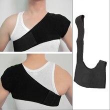 1 pc negro auto calefacción terapia magnética solo hombro Protector de  infrarrojos de Deportes de prevención de lesiones a sopor. 379b3b1534fc