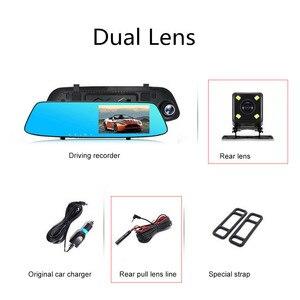 Image 5 - 5.0 นิ้ว 1080 P HD รถ DVR กระจกย้อนกลับกล้อง Night Vision 12.0 MP Auto Driving Video Recorder dash กล้อง