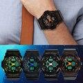 Men's Double Time Stopwatch Waterproof Sport Mountaineer Dial Quartz Wrist Watch 3WFK