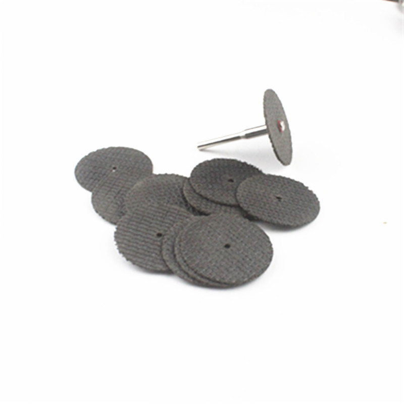 32/38mm Abrasive Dual Mesh Cutting Disc Reinforced Cut Wheels For Dremel Rotary + 2 Pcs Rod
