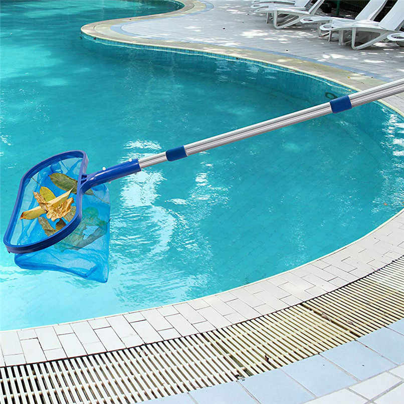Swimming pool cleaning tool Deep Net with Rod Professional Leaf Rake Mesh  Frame Net Skimmer Cleaner Swimming Pool Tool #2N02