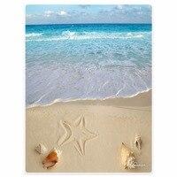Blanket Comfort Warmth Soft Plush Easy Care Machine Wash Beach beach starfish shell blue sky Sofa Bed Throw Adult Warm Blanket