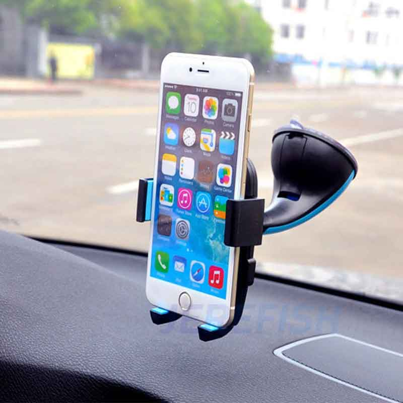 Jerefish Universal Car Phone Holder Mount Windshield Sucker For iPhone 5s 6s Plus Samsung HTC Smartphones GPS Plastic Stand Dock Сотовый телефон