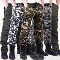 Good Quality Cotton Camouflage Cargo Pants Washed Overalls Army Military Pants Camo Track Pants Pantacourt Homme