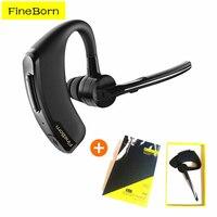 FineBorn Business Wireless Bluetooth Headset Earphone Handsfree Wireless Headphones Noise Cancelling Office Driver Sports Earbud