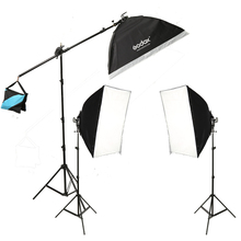 Godox Studio Photo Continuous Lighting 15x36w Bulbs Light stand Softbox Kit
