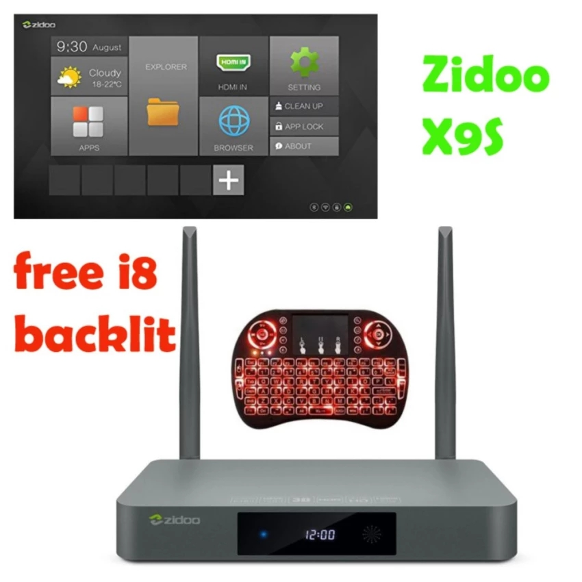 ZIDOO X9S by dhl Android 6.0 TV Box Realtek RTD1295 Quad Core 2G/16G HDMI IN 4K Smart TV Box Dual WiFi 1000Mbps LAN BT4.0 zidoo x6 pro 4k2k h265 smart android 51