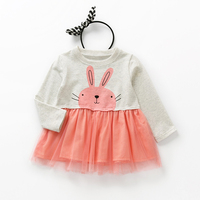 Kids Occasion Dresses Little Girls Dresses 2017 Wesele Childrens Gowns Baby Girl Long Sleeve Cotton Atummn