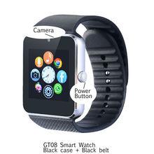 Gt08 bluetooth smart watch oled-bildschirm smartwatch unterstützung sim und speicherkarte intelligente uhren