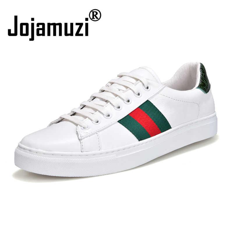 ... мужская обувь из натуральной кожи дышащая обувь со шнуровкой  Повседневное скейтборд обувь модные кроссовки Для мужчин кроссовки обувь Размер  38 44 на ... 40f9a71cedb