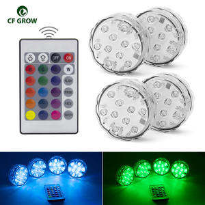Swimming-Pool-Light Submersible Underwater-Light Pond Waterproof Battery-Operated 10LED