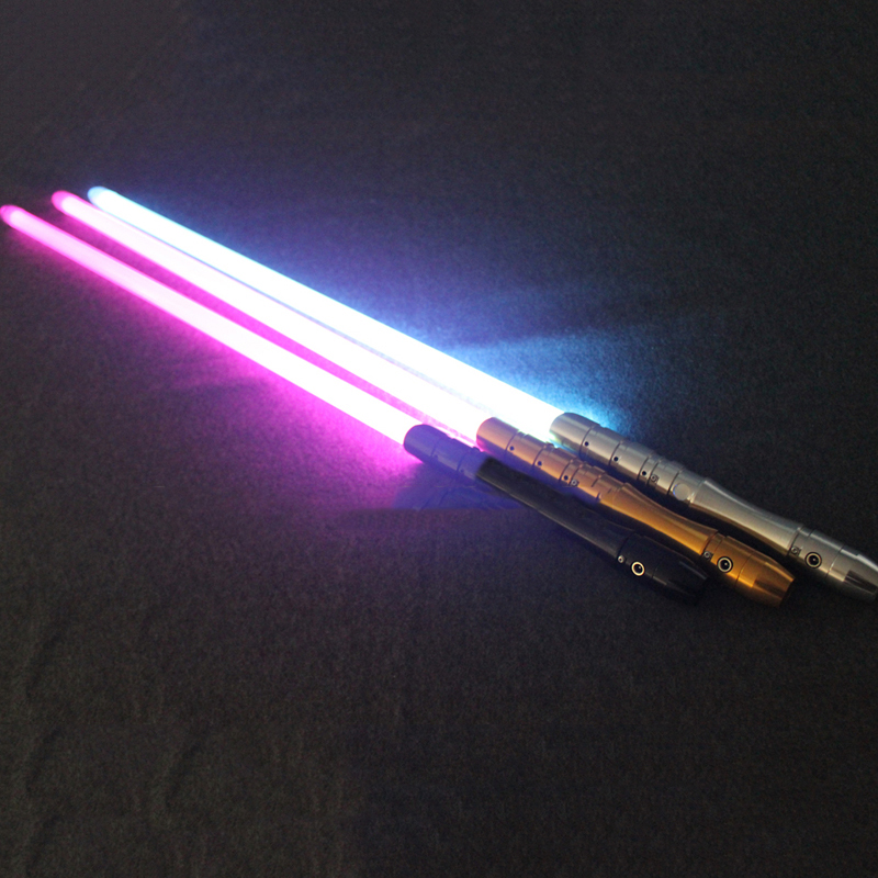 1PCS Lightsaber  Electronic saber toy with Mental Handle Light sound gift for kids costume party star wars light saber blue and red starwar telescopic lightsaber cosplay 33 7 interactive sword model kids toys
