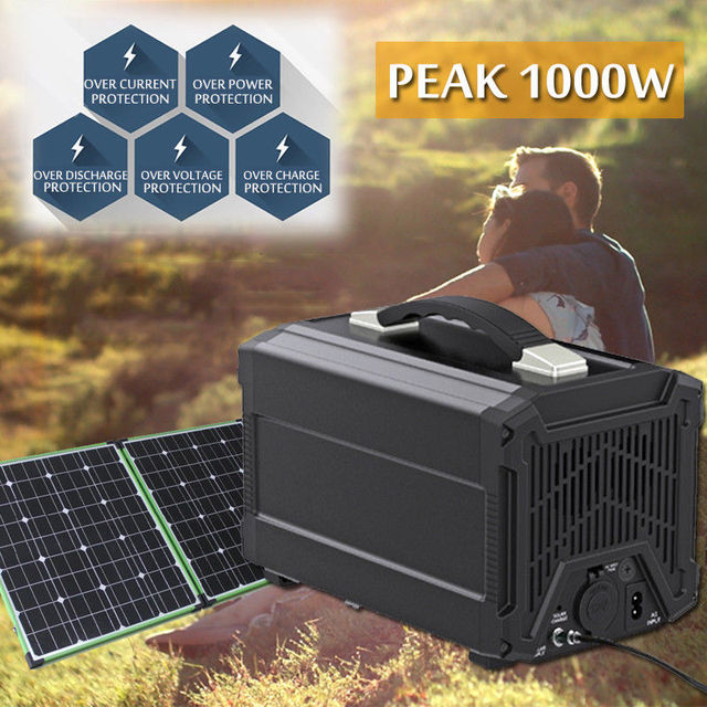 Portable Power Station 120000mah Stable Safe Camping Solar Generator, 110V 220V AC Outlet, 12V Car Port, 5V USB Output