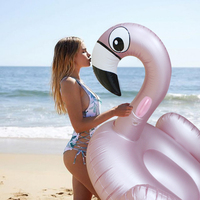150cm 59inch Inflatable Flamingo Rose Golden Giant Pool Float 2018 Toys Swimming Ring Circle Inflatable Mattress For Beach Party