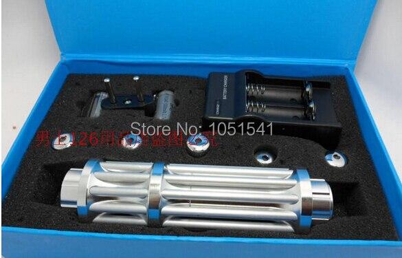 450nm de alta Potência Ponteiros Laser Azul 100000 m LAZER Lanterna Queima Jogo/Papel/Madeira Seca/vela/ preto/cigarros + carregador + caixa