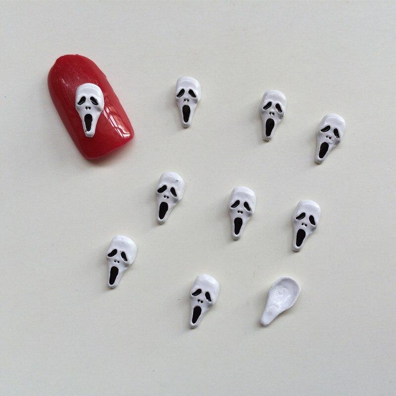 50Pcs/Lot 3D Metal Skull 3D Nail Art Decorations Polish ...