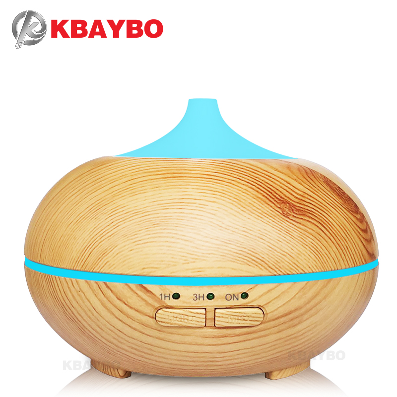 150ml Aroma Diffuser Aromatherapy Wood Grain Essential Oil Diffuser Ultrasonic Cool Mist Humidifier For Office Home