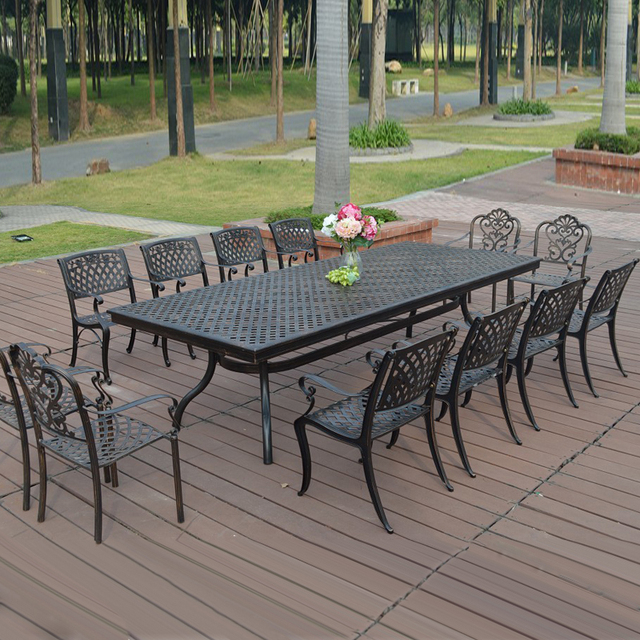 13 Piece Cast Aluminum Patio Furniture Garden Outdoor Transport By Sea