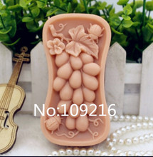New Product!!1pcs Grape with Beetle  (zx181) Food Grade Silicone Handmade Soap Mold Crafts DIY Mould