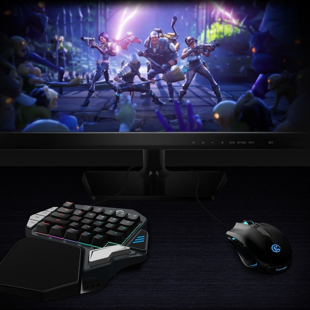GameSir Z1 Gaming Keypad for Mobile/PC Games  AoV Mobile Legends  FPS Games One-handed Blue Switchs/ Cherry MX Red 1