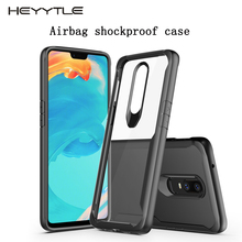 Heyytle Shockproof Armor Case For oneplus 6 6T 5 5T Transparent Case Cover For Oneplus 7 Pro Luxury Silicone Phone Case Coque