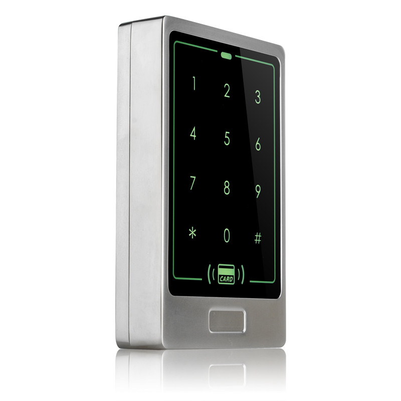 Surface waterproof RFID card door access control panel 125KHZ ID smart card touch screen metal access control reader controller