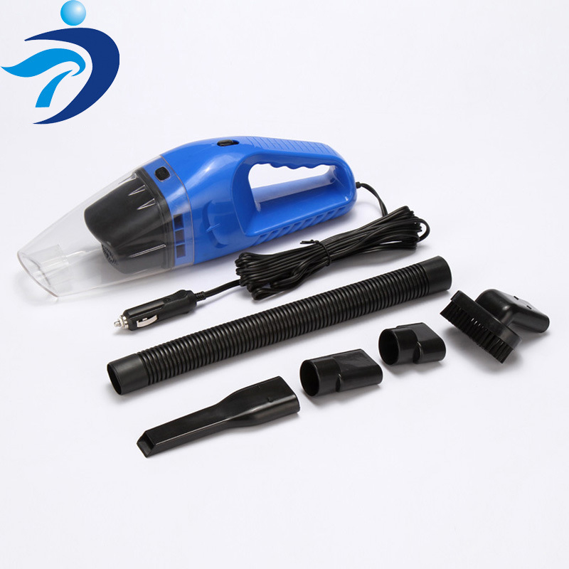 Portable Car Vacuum Cleaner for Automobile Dry and Wet Handheld Double Purpose 120W 12V DC Cable Length 5M Anti-slip Cushion