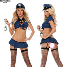 METERNIS women sexy lingerie hot cosplay uniform police sexy costumes erotic lingerie bikini police lingerie sexy underwear 122