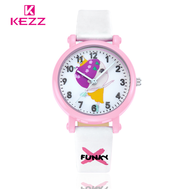 2017Hot KEZZI Brand Leather Strap Fashion Sport Cute Cartoon Children Watch Super Design Analog Wristwatch For Boys Girls K825-1