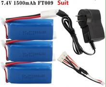 Free ship Hot sell 7.4V 1500mah Lipo Battery  For FT009 RC Boat  speedboat remote control boats spare parts battery