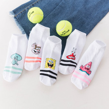 Fashion cartoon character cute socks ladies Harajuku style Korean women ankle fashion funny