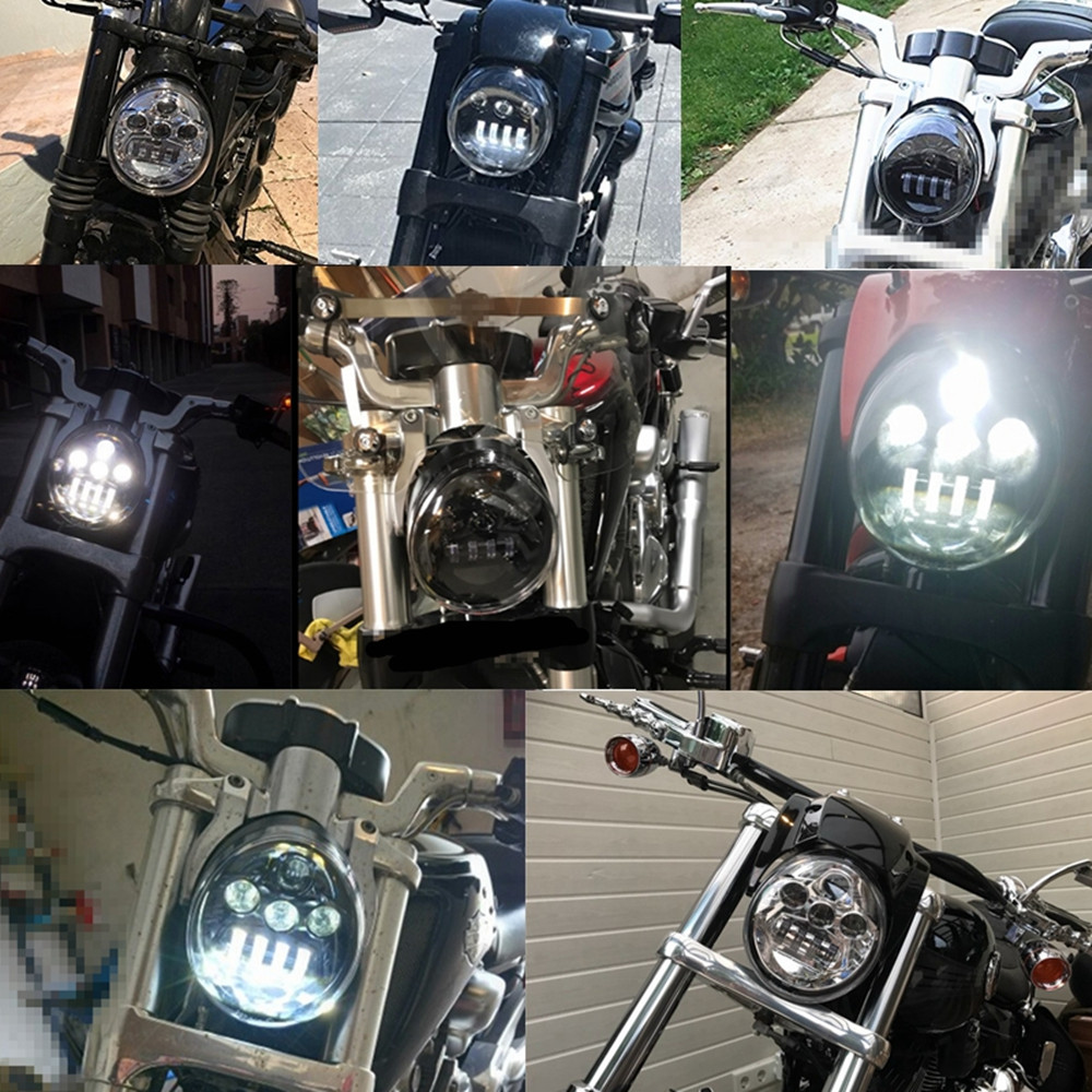 LED 60W Headlight Hi//Lo For Harley Davidson Vrod V Rod V-ROD VRSC VRSCDX VRSCA