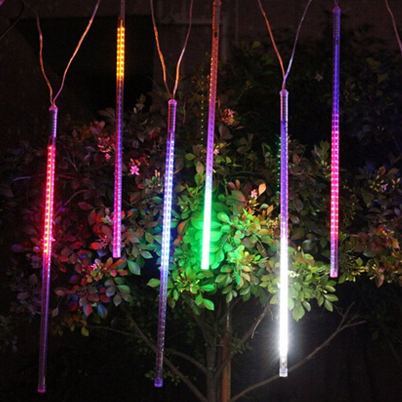 LED Meteor Shower Rain Tube Christmas Light Garden String Light Outdoor Holiday Lighting 100-240V outdoor waterproof