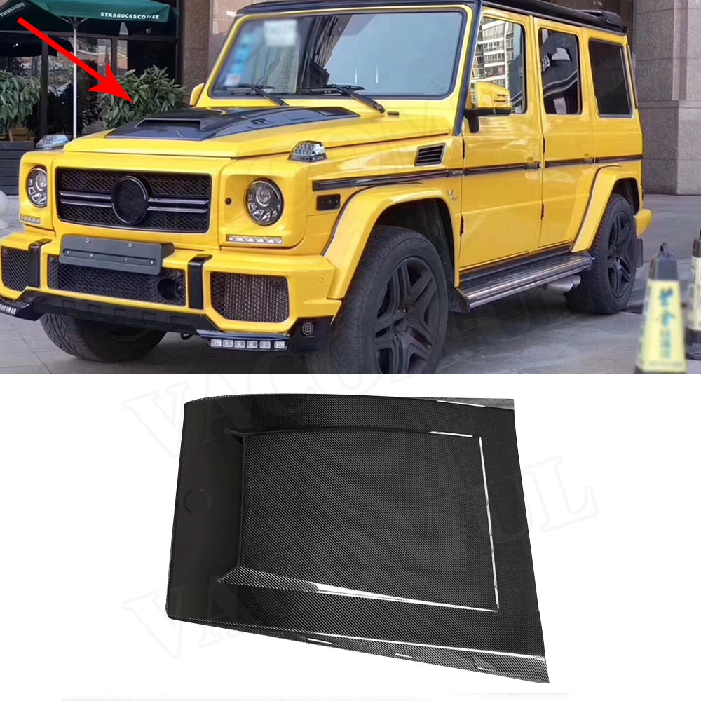 G Class Carbon Fiber Front Engine Hood Cover Trims For