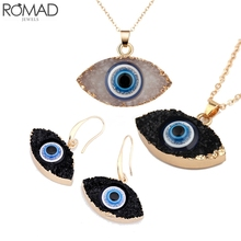 BOAKO Evil Eye Earrings For Women Earing Turkish Drop Earring Statement Gold Big Long pendant aretes Girl Gift R5