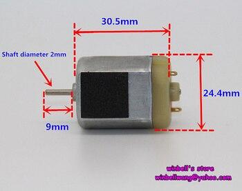 Brand new 3V ~ 6V 30.5*24*18mm 280 micro DC mtor silny magnes wysokiej prędkości szczotki węglowe silnika ~