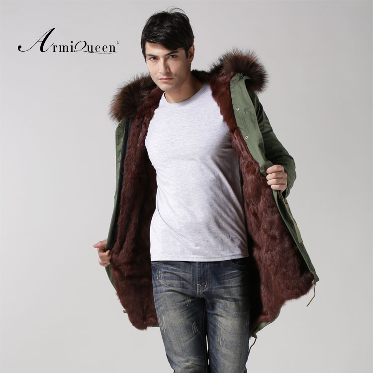 Long style male parka 2015 new arrival Mr fur coat free shipping