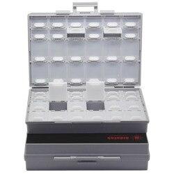 AideTek 2 UNIDAD DE BOXALL48 tapas carcasa vacía SMD SMT organizador DE montaje en superficie DE plástico parte caja Etiqueta DE Reino Unido nave 2BOXALL48