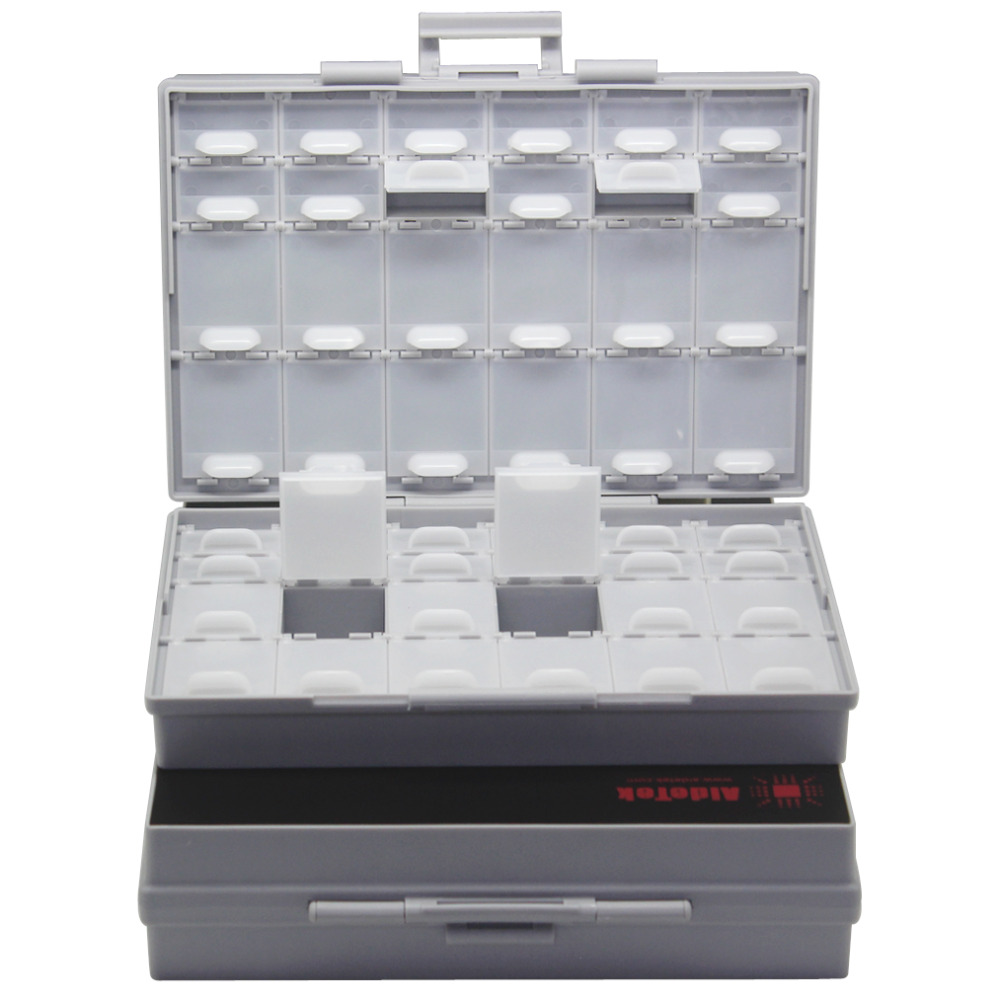 AideTek 2 unit of BOXALL48 lids empty enclosure SMD SMT organizer surface mount plastic part box lable DE UK ship 2BOXALL48