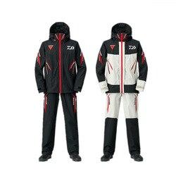 Winter Daiwa Waterproof Fishing Clothing Sets Men Breathable Fishing Clothes Outdoor Sportswear Suit Warm Fishing Shirt  Pant