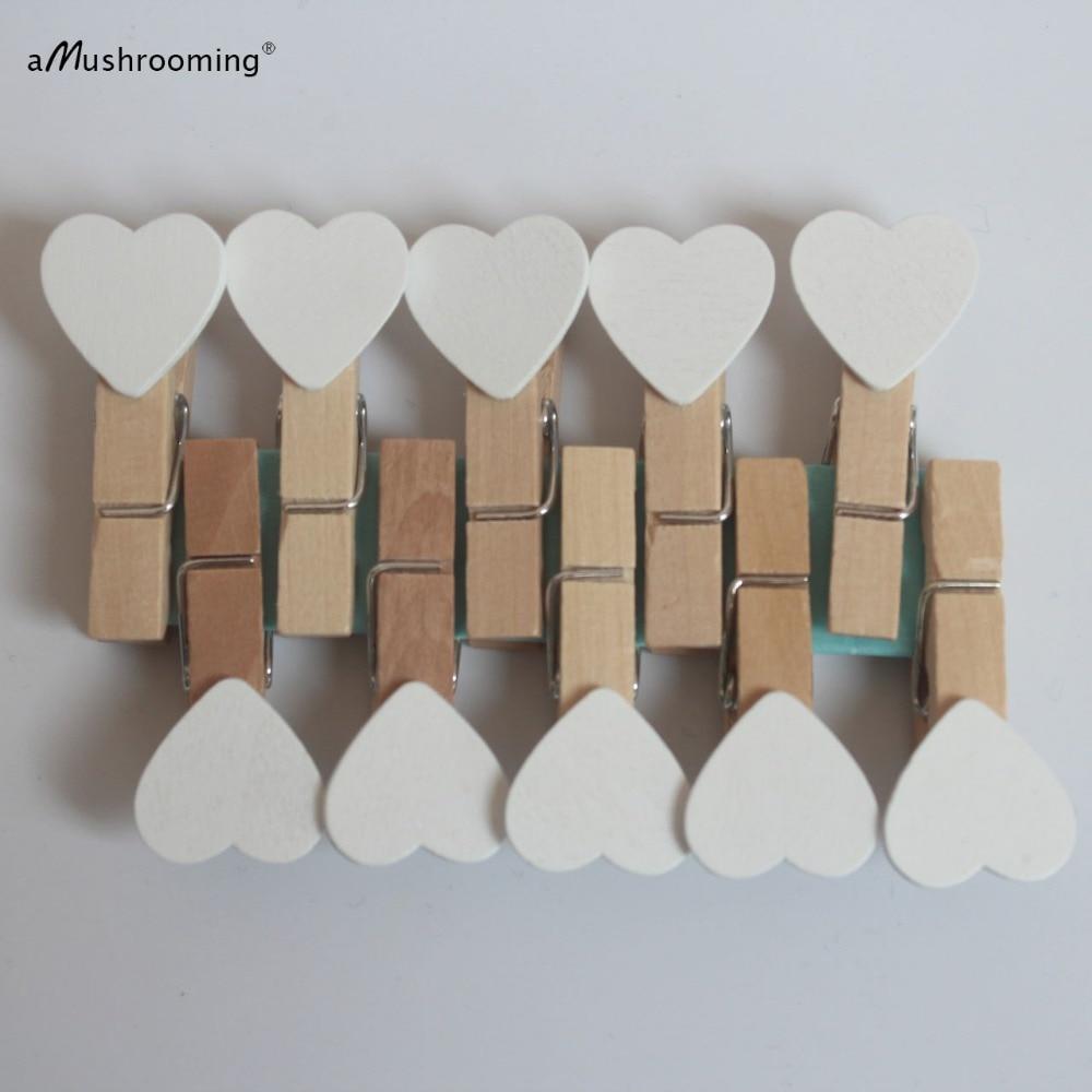 Он Книги по искусству прищепки C Книги по искусству Ун любовь персик он Книги по искусству Дерево клипы маленьких прищепка PEG Книги по искусству Стиль для дома украшения | Белый