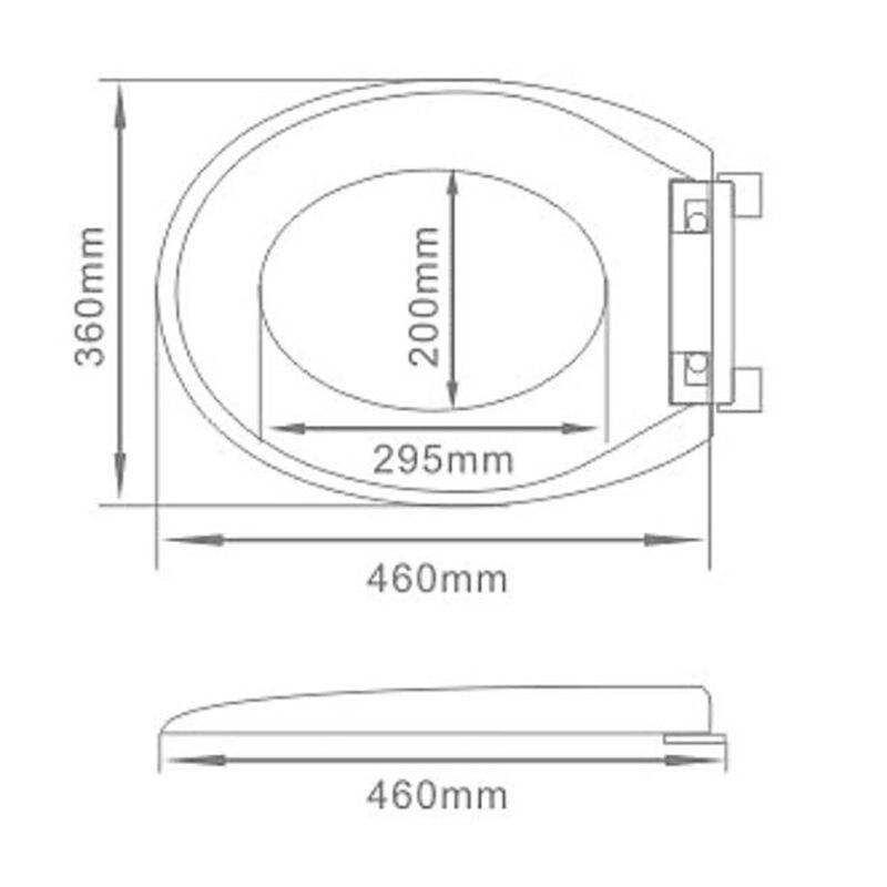 WC-Deckelabdeckung weich schließend hochwertiger weißer - Haushaltswaren - Foto 4