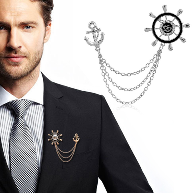 Brooches For Man Rhinestone Brooch Accessories Jewelry