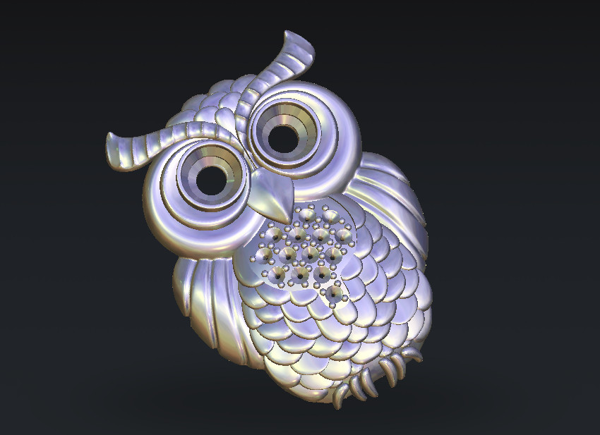 Owl CNC Router Carving Engraving Relief Model STL Format 3D Model Artcam Type3 Cnc Engraving M237