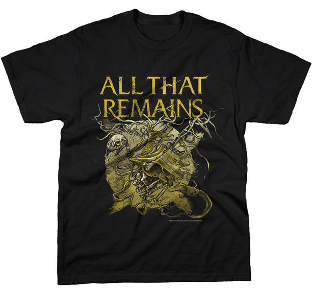 All That Remains Bird Skeleton T Shirt S M L Xl 2Xl Brand New Official