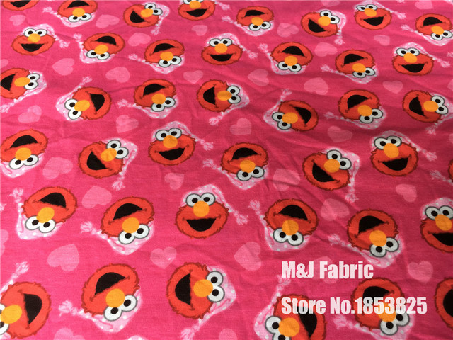Pajamas Elmo Sesame Street Lycra Knitted Cotton Fabric For Sewing
