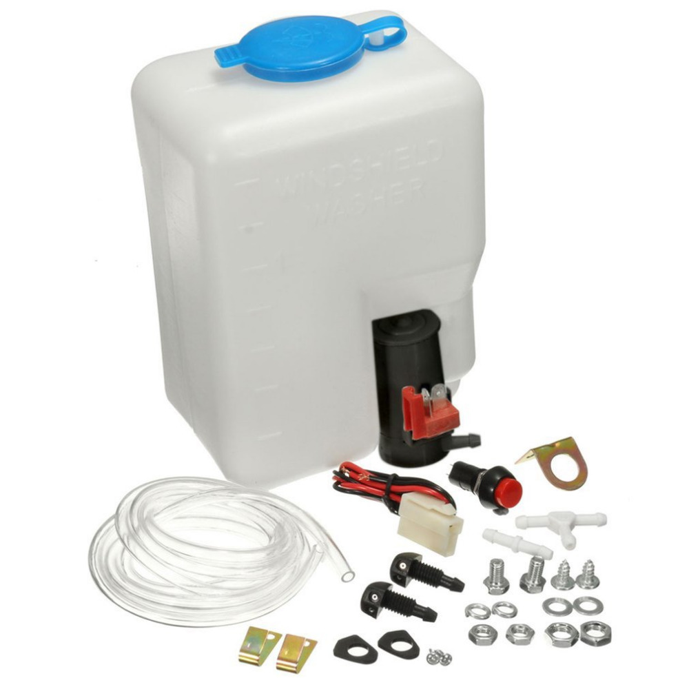 Car Windshield Washer Reservoir Pump Bottle Kit 12V Jet Switch Clean Tool For Car For Boats For Marine Classic Drop Shipping